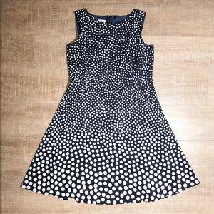 Talbots Petites Polka Dot Midi Dress (14P)